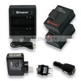 For gopro hero accessories set & dual channel charger & battery with cheap price