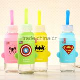 Lovely Silicone Sleeve Glass Water Bottle to little baby andd children