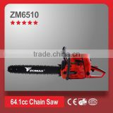 power tools 64.1cc 3.3kW 2 stroke ZM6510 brands of chainsaws forced air cooling system