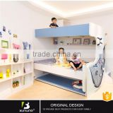 Modern Wooden Double Decker Wall Bed For Sale