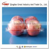 Disposable plastic Fruit Apple packaging Tray 4 Apples packaging tray                                                                         Quality Choice