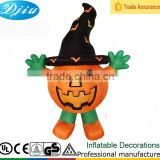 DJ-XT-132 inflatable halloween artificial outdoor plastic pumpkin seed bucket decoration