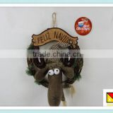 reindeer wholesale artificial christmas wreaths,moose wholesale artificial christmas wreaths