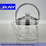 Water Pots & Kettles Drinkware Type and LFGB SGS Certification glass coffee pot 800P/1500P