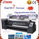Industrial high speed large format digital sublimation printer M-197Q with double Dx7 Print Head for flag direct printing
