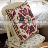 New pattern 100%Cotton cushion covers, 45*45CM, canvas towel embroidery decorative bed covers