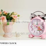 Pink Bear alarm clocks with mechanical ringing bells plastic materials Sweep second hand CE/FCC certification PW3178