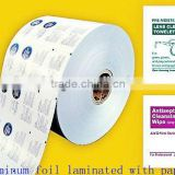 Hot Sale Competitive Laminating Type And Medical Use Paper Backed Aluminum Foil For Wet Tissues