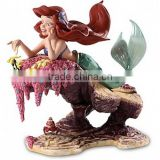 OEM made mermaid fairy resin figurines, girls gift mermaid fairy resin figurines, polyresin figurines Shenzhen production