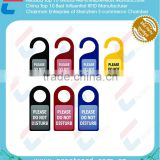 Promotional Custom printing plastic PVC Door Hanger tags for hotel