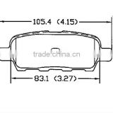 Fronts brake D905 55810-79J00 for Fiat remsa brake pads