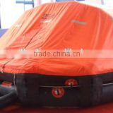 Throw-over type inflatable liferaft for 25 person