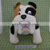 HI EN71 Black and White Plush Dogs for Gifts