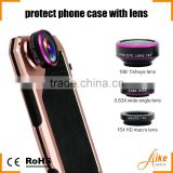 Hot Selling Photographer Photo Lover Touring Accessories Fish Eye Wide Angle Macro 3 In1 Camera Lens for Iphone 6
