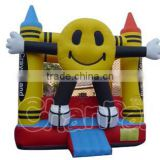 Cute design happy face inflatable bouncer castle for sale