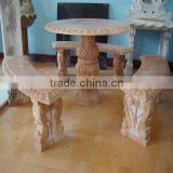 outdoor stone tables and benches (customized accept)