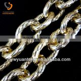 Wholesale fashion cut face aluminum belt chains
