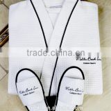 White Color Cotton Waffle Hotel/ Waffle Bathrobe                                                                         Quality Choice