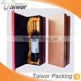 High End Packaging Boxes Custom Logo Manufacture Red Wine Box