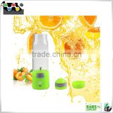 Popular stainless steel electric juice cup with mini usb, rechargerable juice blender mixer