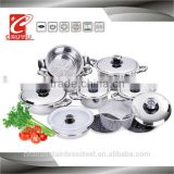 18 pcs stainless steel induction cooking pot in china                                                                         Quality Choice