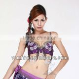 Belly Dancing Bra, New Sexy Arab Beads Belly Dance Bra Top, Performance Bra for Women Dancer (QC8012)