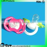 China factory wholesale large clear baby nipple silicone mustache pacifier