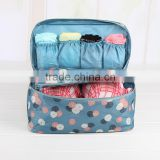 Travel Waterproof Panties Storage Bag Underwear Bra Makeup Toiletry Cosmetic Case box Luggage Pouch With 1pcs Small Inner Bag
