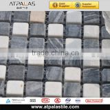 Natural white and gray marble mosaic stone patterns for backsplash, bathroom wall EMC531