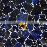 Luxury designs for villa & chateau & palace hall decoration blue onyx stone slabs