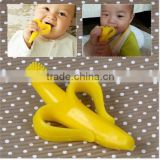 High Quality Silicone Baby Banana Bendable Training Toothbrush Infant Non-Toxic Teething