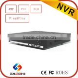 2016 CE RoHS certificated Onvif P2P 4mp nvr poe 8 channel