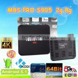 android 5.1 tv box amlgoic s905 2g 8g m8s pro kodi 16.1 fully loaded full of addons accept paypal payment