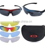 Professional Polarized Outdoor Sunglasses Sports Glasses XQ-100 Goggles Eyewear UV 400 With 5 Lens