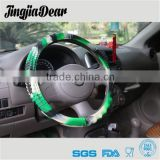 Fashion 13 inch soft Temperature Resistant Heated silicone car steering wheel cover