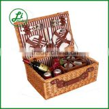 top grage retangular antique picnic basket