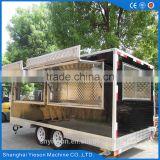 Heavy-duty china mobile food cart ice cream crepe van / Welcome to ask Yogurt truck food