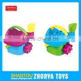 Zhorya hot selling summer beach play set 2 colors beach bucket set