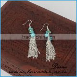 The most beautiful women chain tassel earring