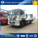 CLW 12 tons to 20 tons 4x2 6 wheels low flat bed excavator carrier flat plate transport truck with low price