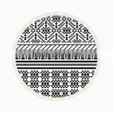 walson wholesale drop shipping Printed microfiber fabric round beach towel with tassels
