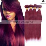 Black Rose wholesale 3 bundles red brazilian hair weave, color 99j virgin brazilian hair bundles