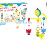 Melodious baby musical bed bell toys with 12 songs