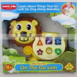 2017 kids Educational Toys Plastic lion Electronic Organ Baby Playset