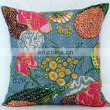"16"" Kantha work Cushion Pillow Cover Throw kantha Handmade Embroidery Work Home Decorative Traditional ethnic decor"