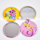 New arrived craft beautiful eco-friendly tinplate mirror button / looking glass for decoration