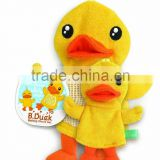 B.Duck wholesale plush fancy face cleaning gloves for bathroom