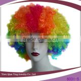 cheap crazy rainbow colorful clown celebrate afro wig