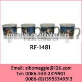 Large Size Not Expensive Belly Shape Porcelain Unique Christmas Design Tea Cups for Tableware