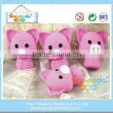 rubber 3d animal cute pencil erasers for promotion